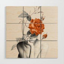 Rose 3 Wood Wall Art