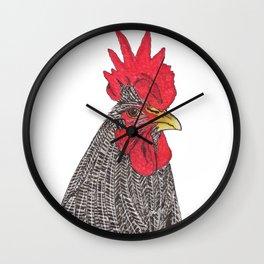 Serious Chicken Wall Clock