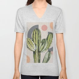 Abstract Cactus  Unisex V-Neck