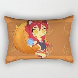 Chibi Fox Fire Ahri Rectangular Pillow