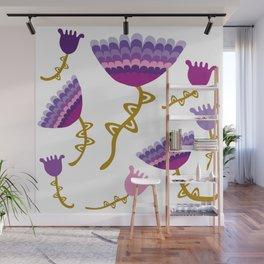 Florets Plum Wall Mural