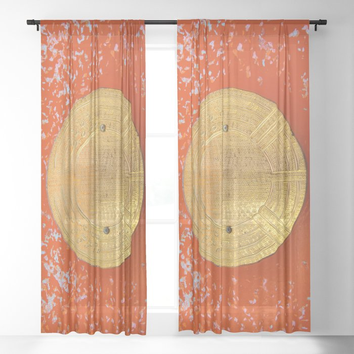 Land of the rising sun Sheer Curtain