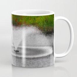 The Pond Fountain Photography Coffee Mug