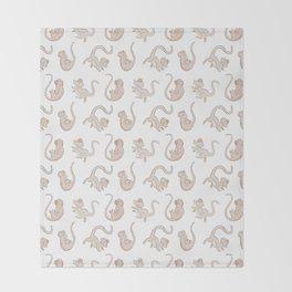 Cute Falling Field Mouse Pattern Throw Blanket