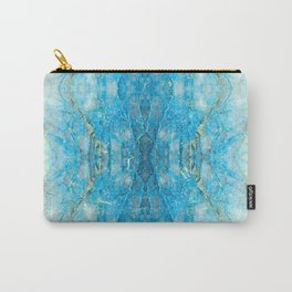 Abstract Kaleidoscope Blue Mineral Crystal Texture Carry-All Pouch