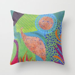 Tropical Textures Throw Pillow
