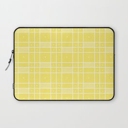 Yellow Squares and Dots Laptop Sleeve