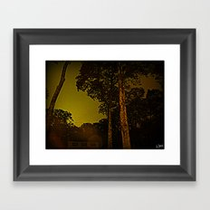 Blackened October Sunfall Framed Art Print