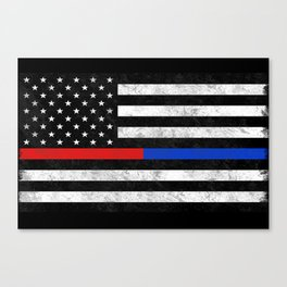 Fire Police Flag Canvas Print