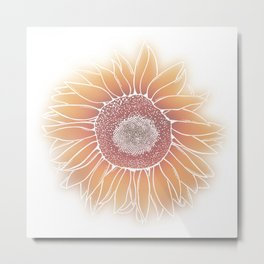Mother Nature's Genius - White Outline Metal Print