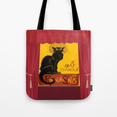 Le Chat D'Amour with Theatrical Curtain Border Tote Bag