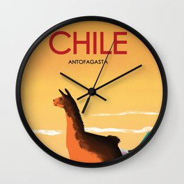Antofagasta Chile | Vintage Travel Poster | Enhanced Matte Paper perfect for your wall ! Wall Clock