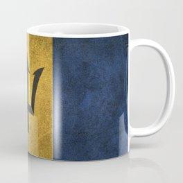 Old and Worn Distressed Vintage Flag of Barbados Coffee Mug