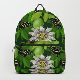 Zebra Longwing visits Passionflower Vine Backpack