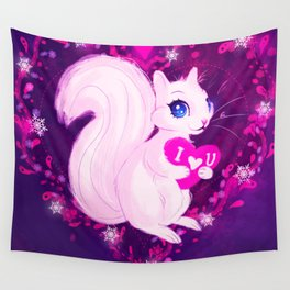 Squirrel Heart Wall Tapestry