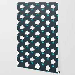Rain Cloud Pattern Wallpaper