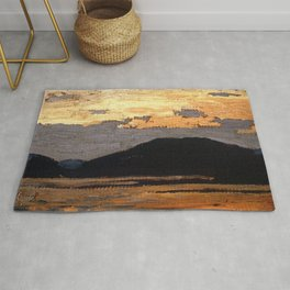 Tom Thomson - Landscape, Algonquin Park  - Canada, Canadian Oil Painting - Group of Seven Rug