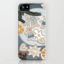Gingerbread Men Cookies iPhone Case