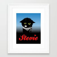 stevie nicks Framed Art Prints featuring Stevie by Mike Halliday