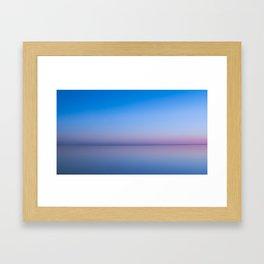 Radiant Gradient in Blue Framed Art Print