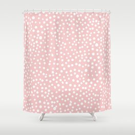 Rosequartz -marble pantone color art print decor minimal pastel pink girly hipster dots dot Shower Curtain