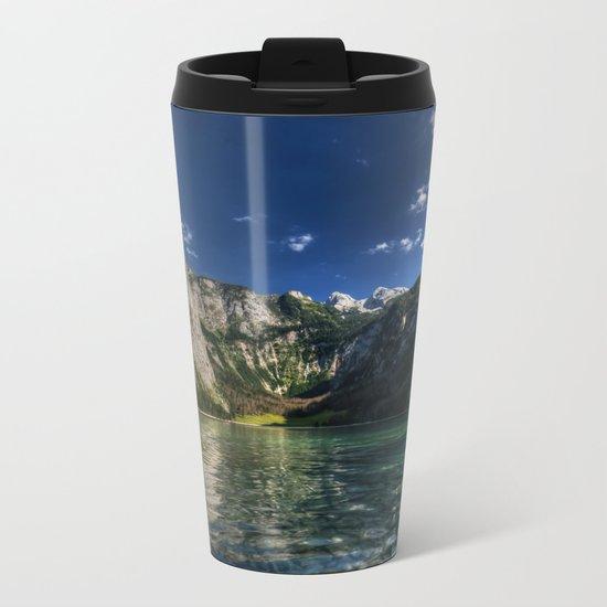 Mountain lake- Alpes Nature Outdoors Mountains Alpes - #Society6 Metal Travel Mug