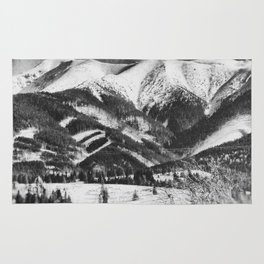 mountains Tatry #blackandwhite #photography Rug