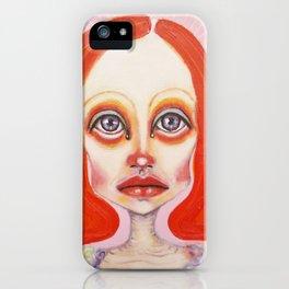 pink orange iPhone Case