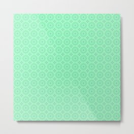 Mint Green Abstract IV Metal Print