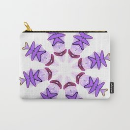 purple snowflake Carry-All Pouch