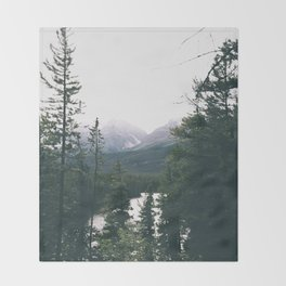 Jasper National Park II Throw Blanket