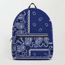 Classic Royal Blue Bandana Backpack