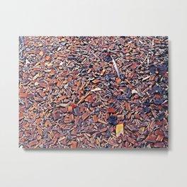 Wood chips texture Metal Print