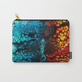 FIRE & ICE Acrylic Pour Painting Carry-All Pouch