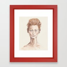 Tilda Swinton Inspiration Framed Art Print