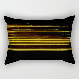 Abstract Orange Light Effect Rectangular Pillow