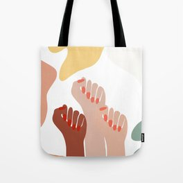 We persist - Girls hands - girlpower  Tote Bag