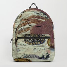 Crab And Ancient Map Backpack