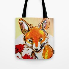 Fox in Sunset Tote Bag