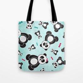 Panda Freefall Tote Bag