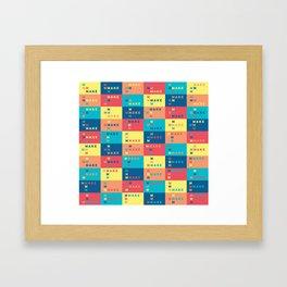 Mmmmake Framed Art Print