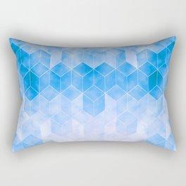 Blue Light Rectangular Pillow