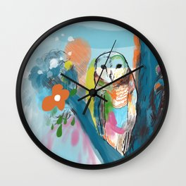 Solitary Owl Wall Clock