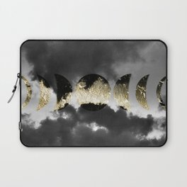 Mystical Moon Phases #1 #gold #black #decor #art #society6 Laptop Sleeve