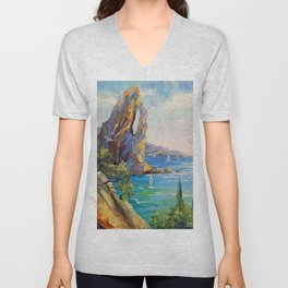 Rock by the sea Unisex V-Neck