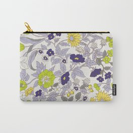 floral garden - blues and greens Carry-All Pouch