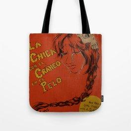 La Chica con el Craneo en el Pelo: The Girl With a Skull In Her Hair Tote Bag