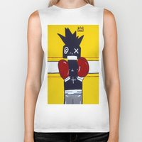basquiat Biker Tanks featuring Boxer Basquiat by TheArtGoon