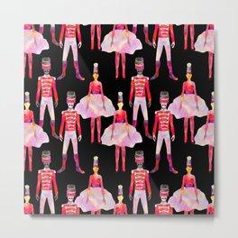 Nutcracker Ballet - Black Metal Print