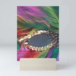 Carnival Feather Mask with Sequence Mini Art Print